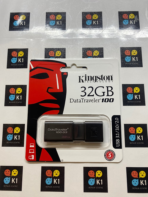 32GB Kingston Data Traveler 100  G3 USB Flash Drive