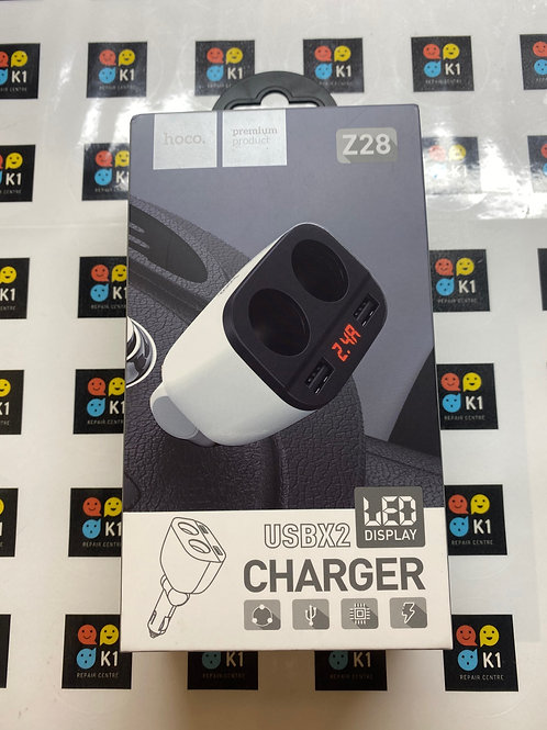 Hoco Z28 Dual USB Car Charger w/LED Display