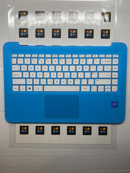HP Stream 14-AX Series Blue Complete Plamrest UK Keyboard w/ Touchpad  Grade