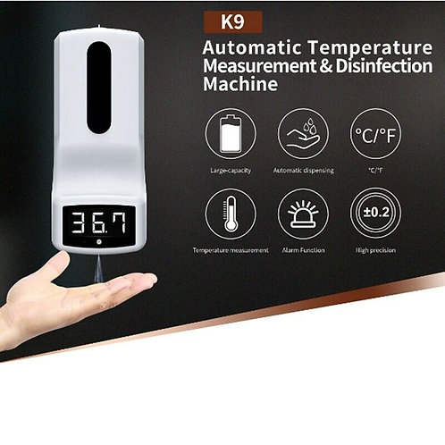 2 in 1 Palm Hand Thermometer Scanner with Sanitizer Dispenser