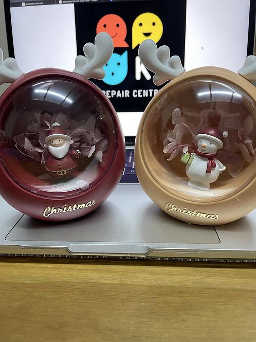 Santa Claus, Snow Man Light Crystal
