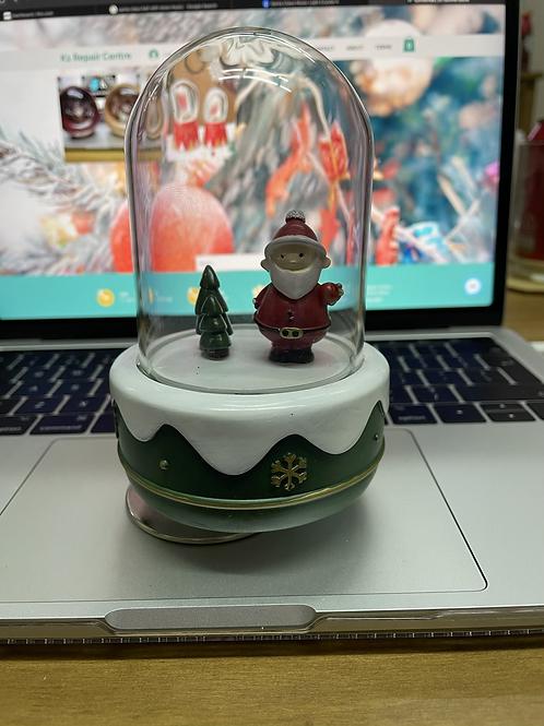 Santa Green or Snowman Red Rotating Music