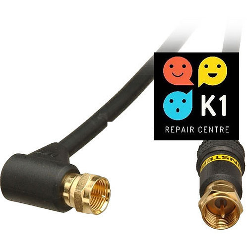 Monster Cable Series RF Male to Right Angle RF Male Coaxial Video Cable