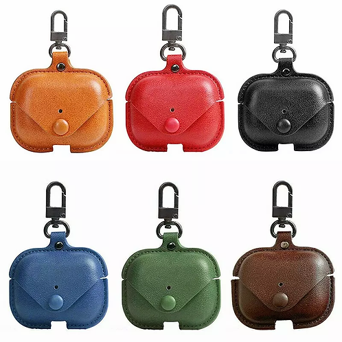 PU Leather Protective Case For AirPods Wireless Bluetooth Earphone