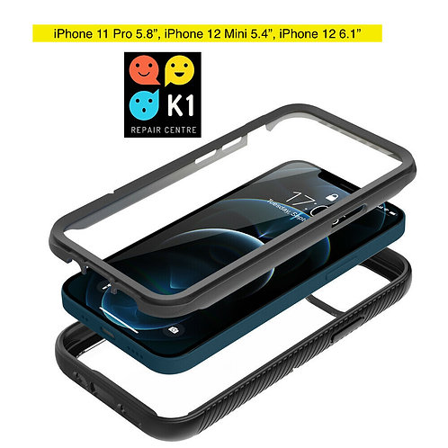 Hybrid Bumper Case For iPhone 11 Pro, 12 Mini, 12
