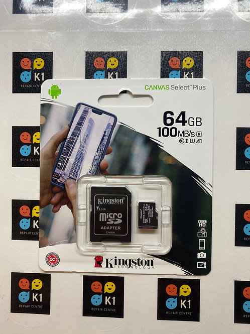 64GB Kingston Micro SD / SD Memory Card