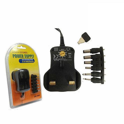 Universal Mains AC/DC Power Adaptor  3v 4.5v 6v 7.5v 9v 12v