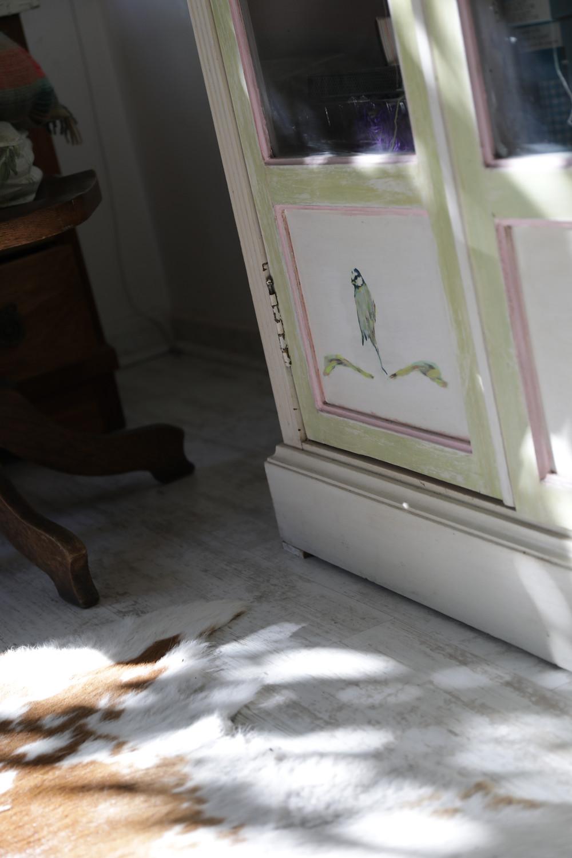 mueble reciclado con decoupage
