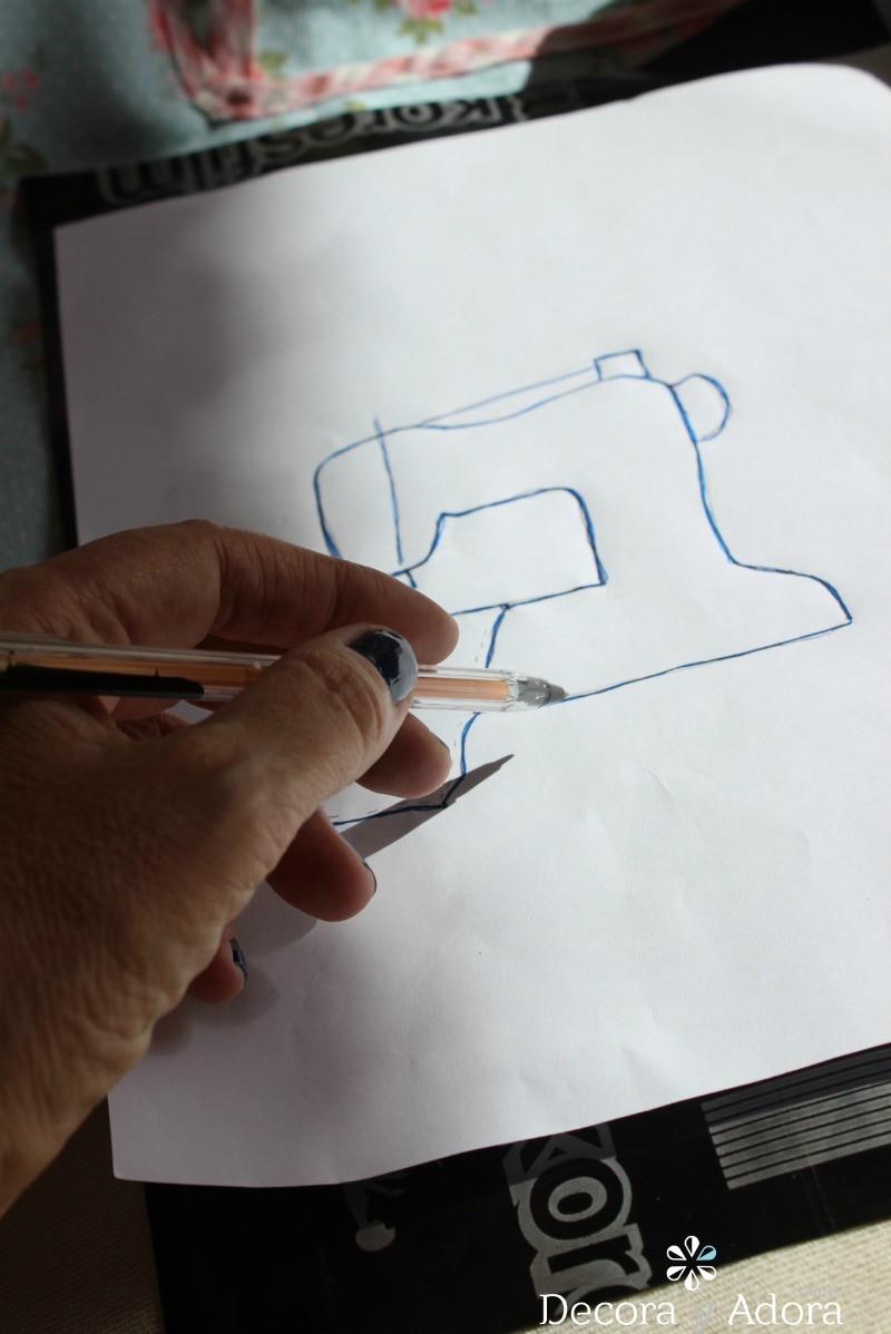 aplicación de funda de máquina a coser