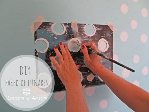 diy pintar pared de lunares