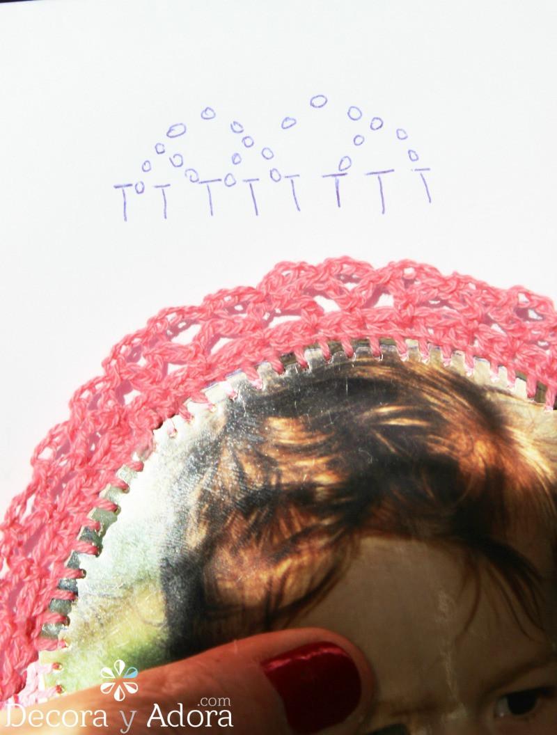 paso a paso borde a crochet