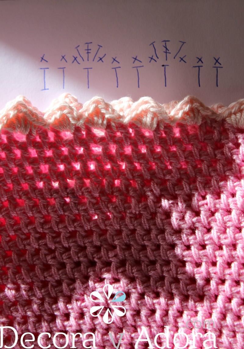diagrama funda de termo a crochet