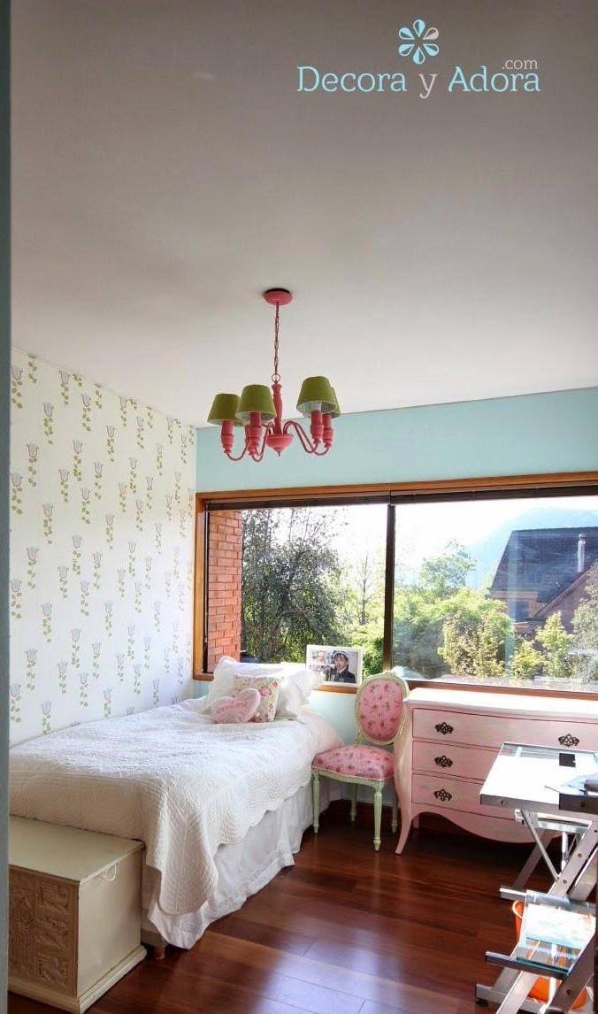 linda lámpara renstaurada dormitorio niña