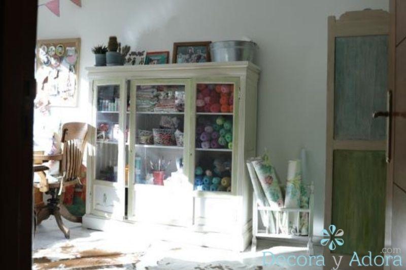 taller craft con mueble  reciclado decoupage