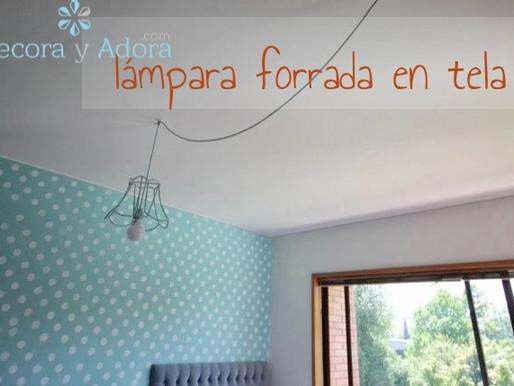 lámpara forrada en tela