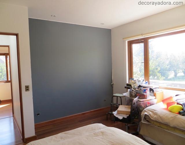 muro gris dormitorio niños