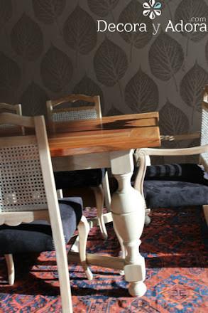 linda mesa de comedor restaurada