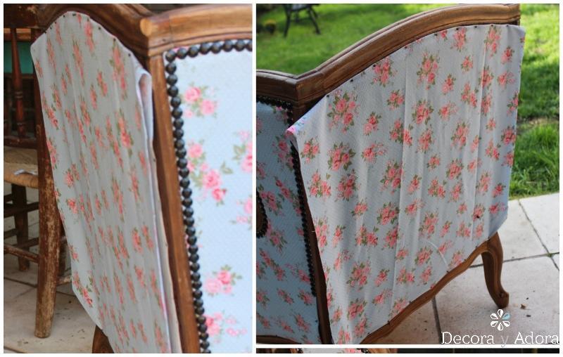 simple forma de tapizar sillón
