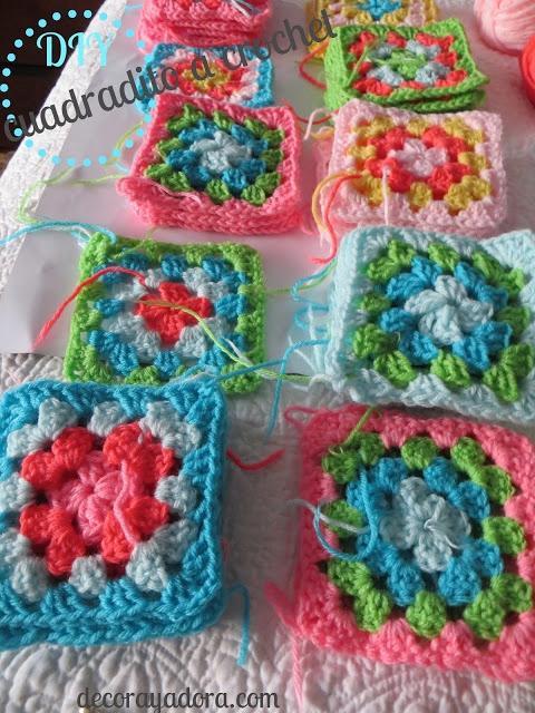 paso a paso colcha a crochet con cuadrados básicos