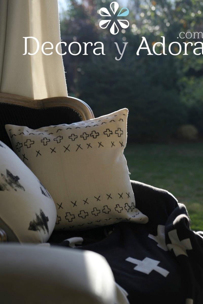 DIY COJIN AFRICANO TIPO MUD CLOTH