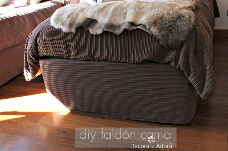 Como hacer un faldón de cama que no se arrugue