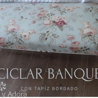 restaurar banqueta con tapiz bordado