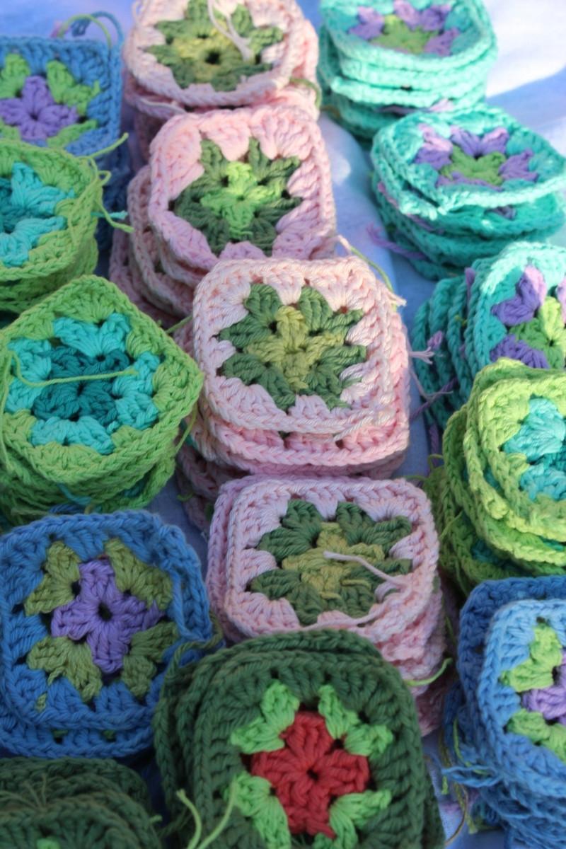 cuadraditos para cortina a crochet