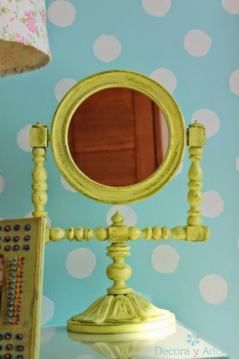 como renovar espejo / how to paint mirror with look old