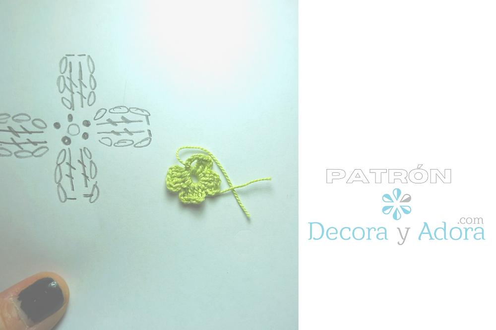 PATRON FLORES FACILES A CROCHET