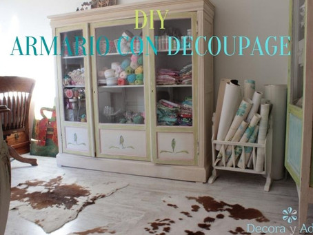 Como transformar un mueble antiguo con decoupage