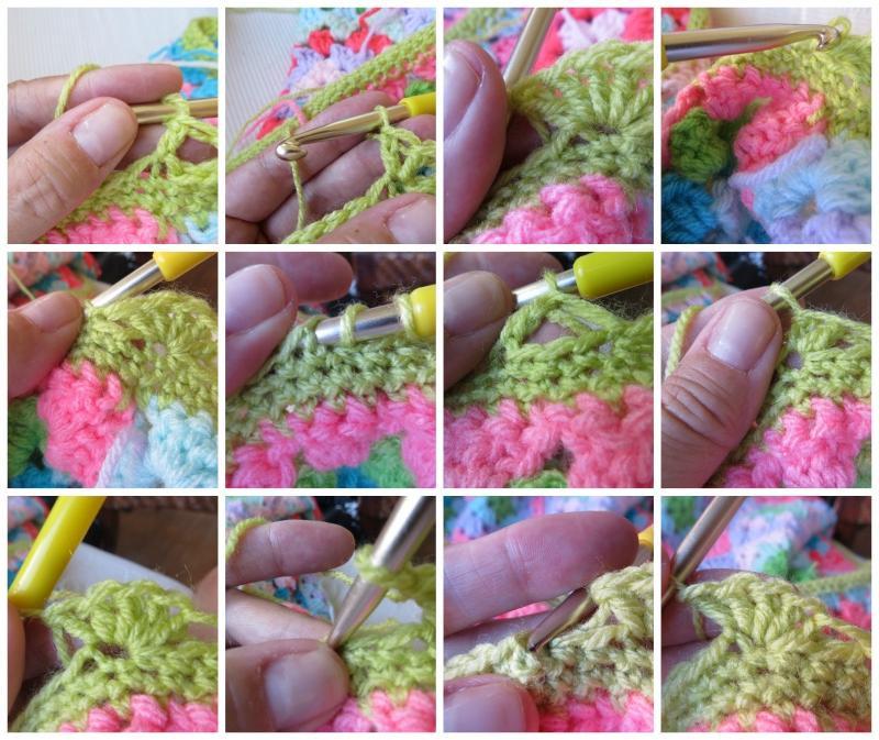 diy manta a crochet con cuadrados básicos