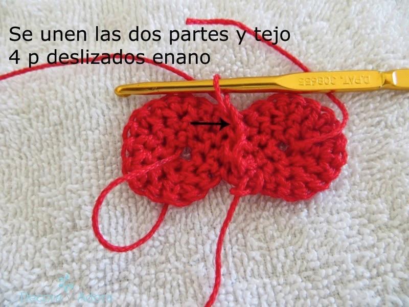 paso a paso corazón  a crochet