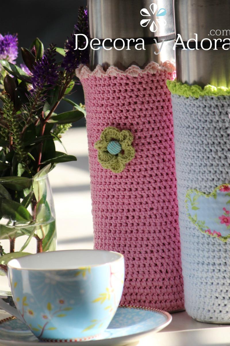 paso a paso simples fundas a crochet