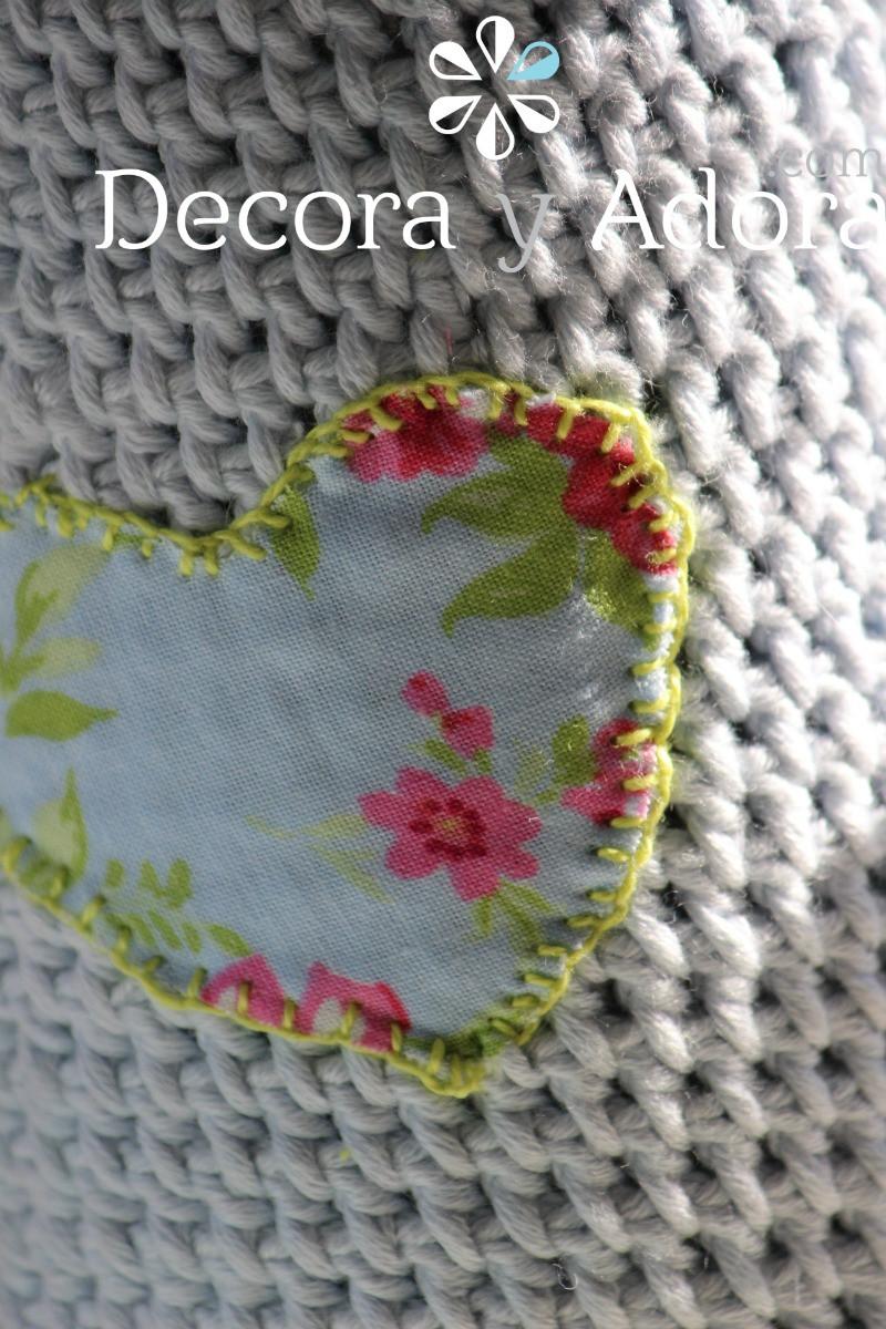 punto festón funda de termo a crochet