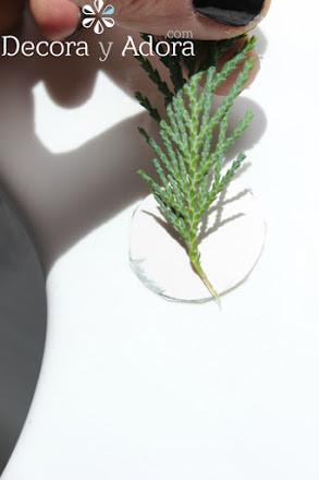 como hacer un delicadonenvoltorio navidad con ramas de pino