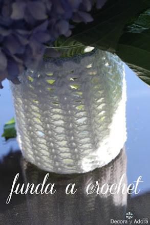 paso a paso funda de frasco a crochet. delicado florero con funda fácil a crochet