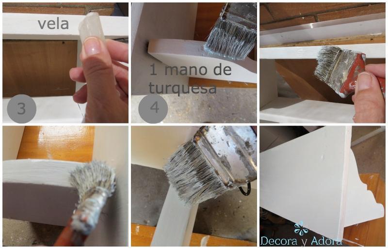 TUTORIAL COMO PINTAR REPISA ASPECTO VINTAGE