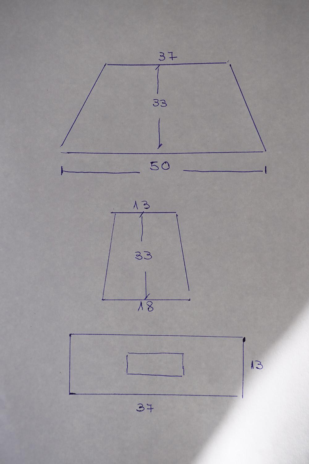 patrones de funda de maquina de coser