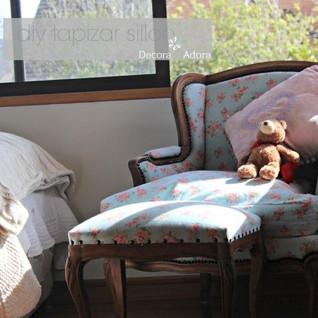 diy tapizar sillón dormitorio Florencia