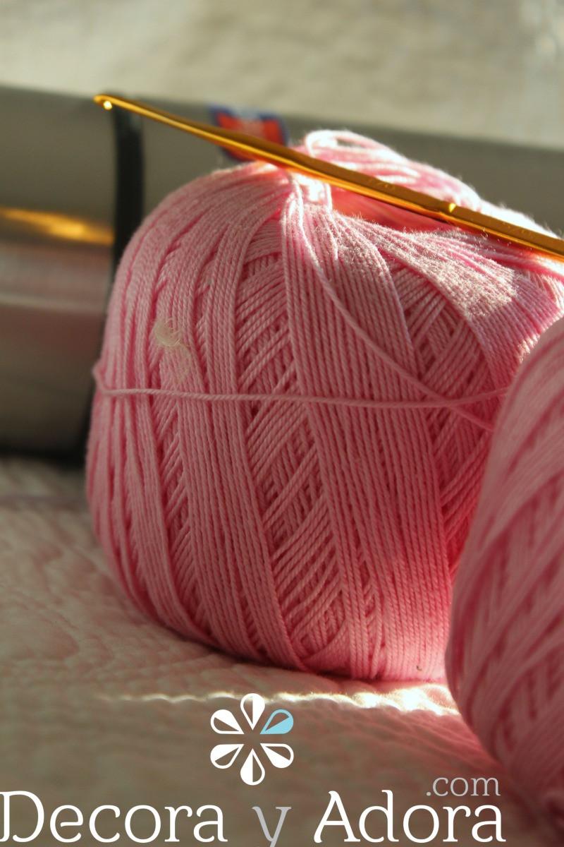 lana para tejer funda de termo a crochet