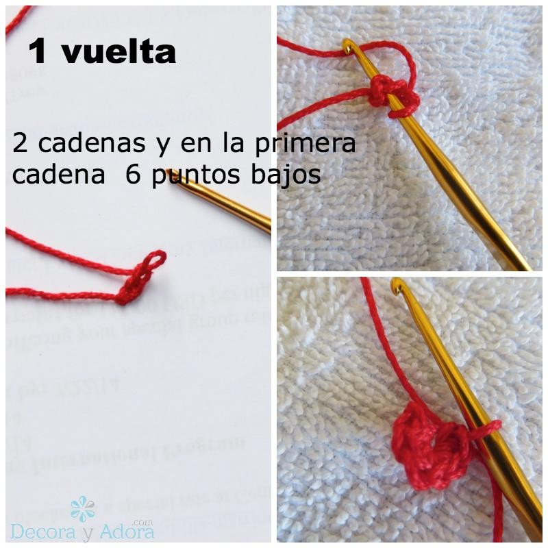 tutorial  corazón para rellenar a crochet