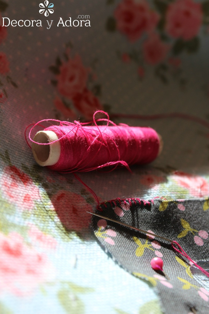 coser con punto festón funda de máquina de coser