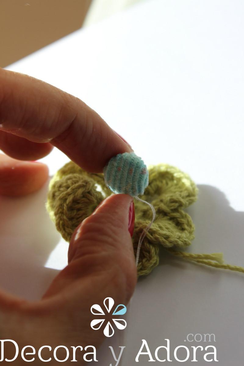 botón funda de termo a crochet
