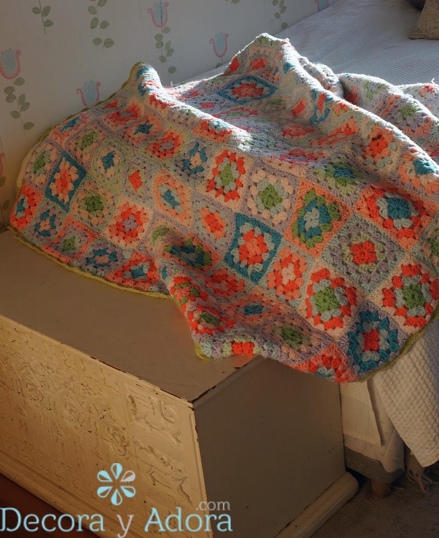 tejer fácil colcha crochet