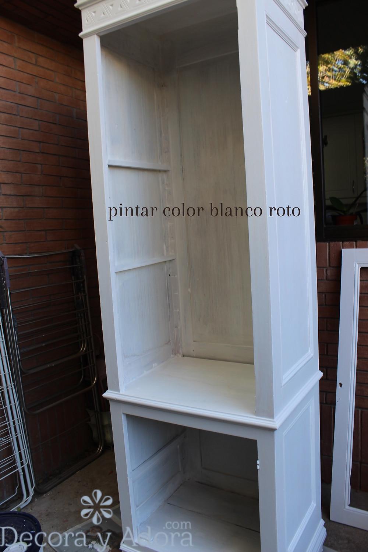 como restaurar ropero pintar blanco roto