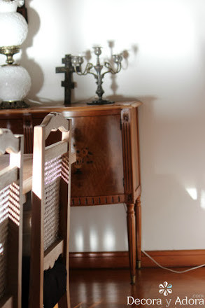 tutorial restaurar bife antiguo resaltando marquetería desgastada