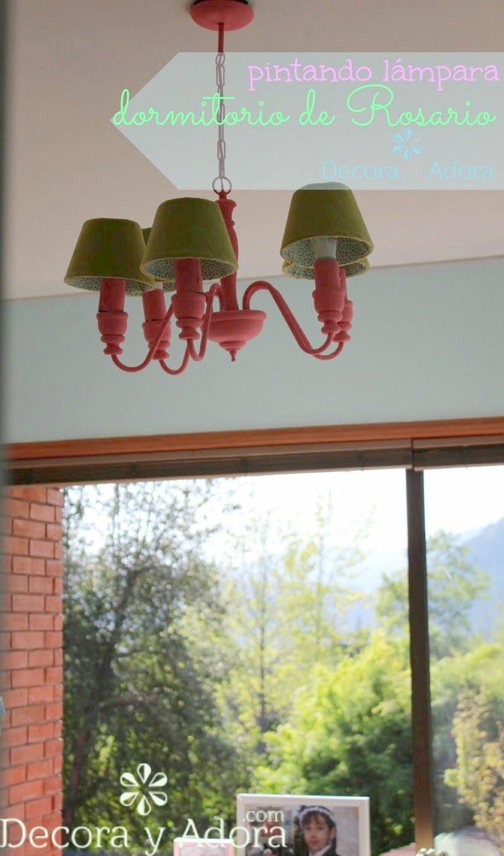 linda lámpara  restaurada dormitorio niña