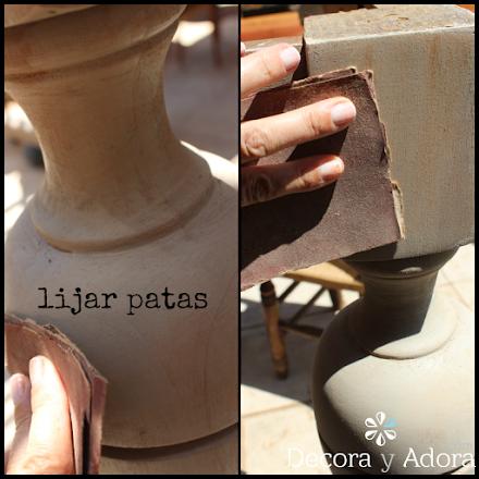 lijar las patas restaurar mesa