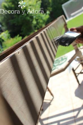 patas de restaurar mesa con apariencia de albayalde