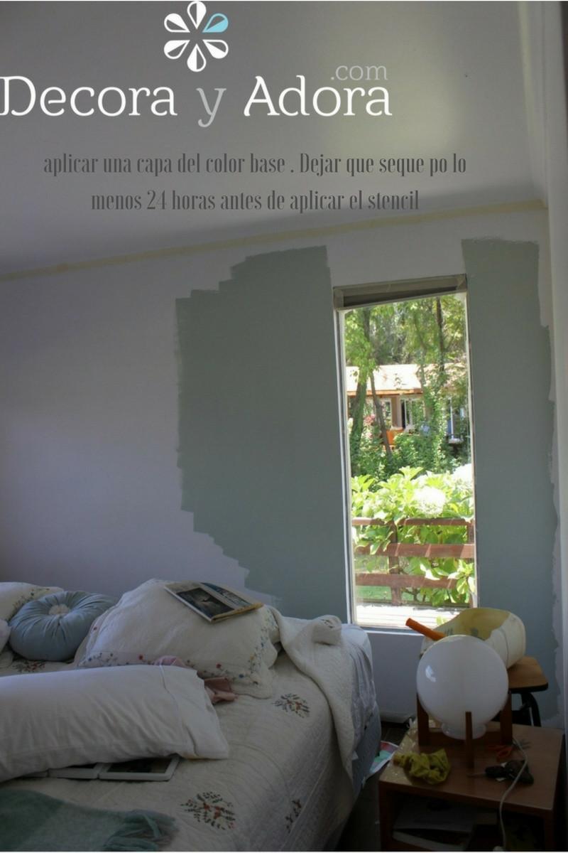 Pintar una pared con stencil, elegir color contrastante